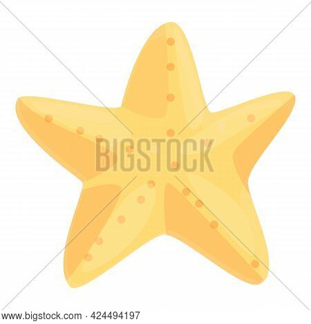 Starfish Icon. Cartoon Of Starfish Vector Icon For Web Design Isolated On White Background