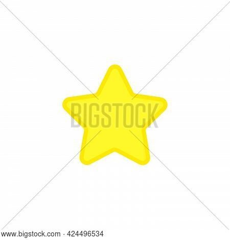 Star Shape Vector Illustration Abstract Design Symbol. Gold Sign Star Shape Award Rating Element. Go