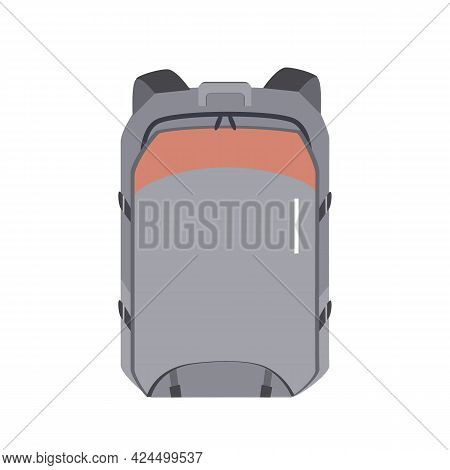 Vector Backpack Is Isolated On A White Background