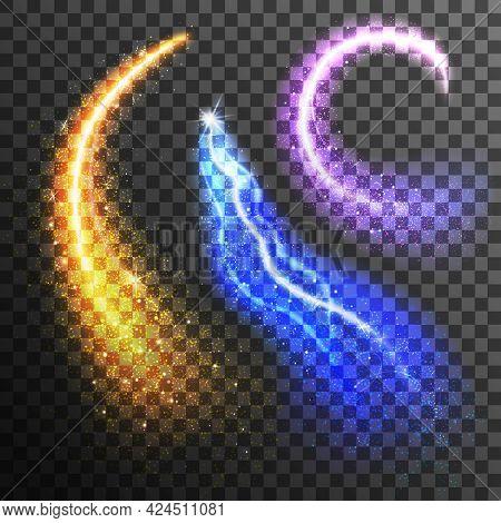 Glitter Particles Transparent Set. Sparkling Transparent Set. Fireworks Transparent Set. Glitter Iso