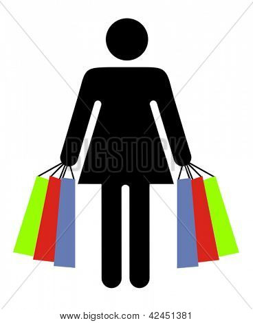 Shopping symbol or sign