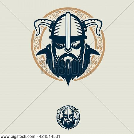 Odin And His Ravens Insignia Vector Symbol For Brand, Logo, T-shirt Print, Design Element Or Any Oth