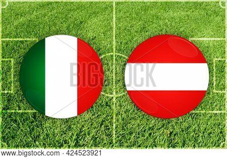 Concept for Football match Italy vs Austria