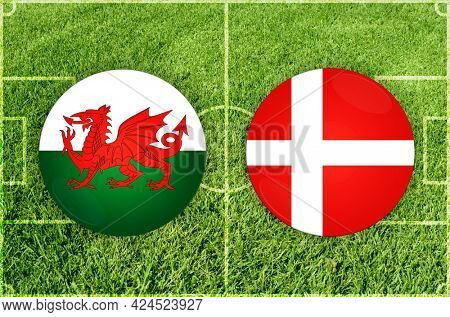 Concept for Football match Wales vs Denmark