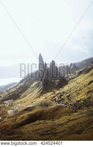 The Storr, the rocky hill in Scotland