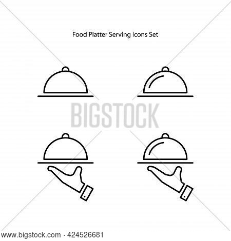 Serving Icons Set Isolated On White Background. Serving Icon Trendy And Modern Serving Symbol For Lo