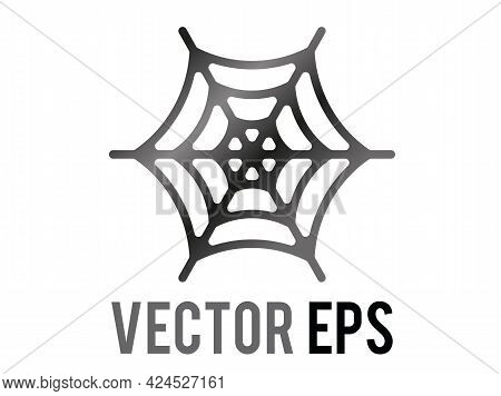 The Isolated Vector Classic Spider Web Halloween Decoration Icon,  Commonly Used During Halloween, T