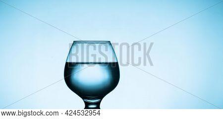 Clear water in glass Clear water in glass