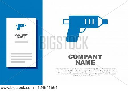 Blue Electric Cordless Screwdriver Icon Isolated On White Background. Electric Drill Machine. Repair