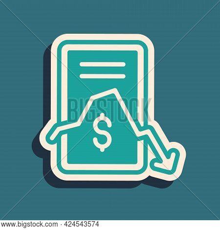 Green Mobile Stock Trading Concept Icon Isolated On Green Background. Online Trading, Stock Market A