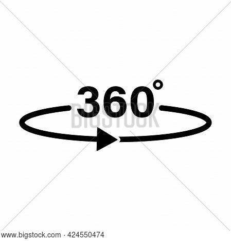 360 Degree Rotate Rotate Icon Vector For Graphic Design, Logo, Web Site, Social Media, Mobile App, U