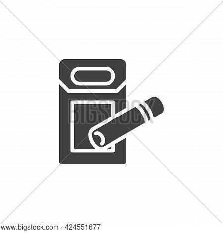 Cigarette Box Vector Icon. Filled Flat Sign For Mobile Concept And Web Design. Pack Of Cigarettes Gl