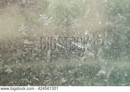 Abstract Background With Muddy And Dirty Water. Selective Focus