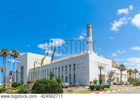 Tel-aviv, Israel - June 17, 2021: View Of The Historic Building Of Reading A Power Station, In Tel-a