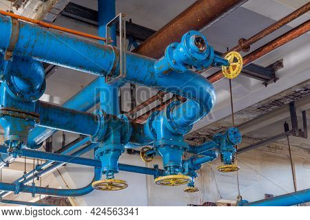Tel-aviv, Israel - June 17, 2021: View Of Old Pipelines In The Historic Reading A Power Station, In