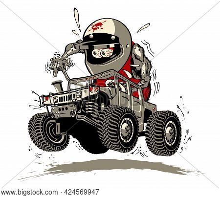Cartoon Buggy. Available Eps-8 Separated By Groups And Layers For Easy Edit