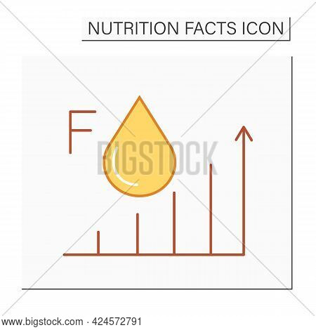 Fat Content Color Icon. Energy Value. High Level Fats. Nutrition Facts. Nutrient Supplements. Nutrie