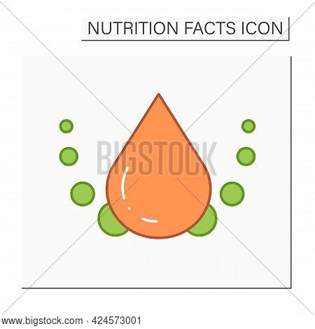 Saturated Fat Color Icon. Bad Fats. Trans Fat Regulation. Macronutrients. Nutrition Facts. Healthy,