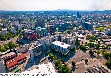 City Of Zagreb Radnicka Business District Aerial View, Capital Of Croatia