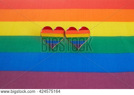 Love Wins Concept With A Multicolored Heart. Equality And Love Protection