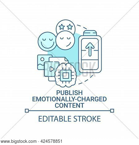 Publish Emotionally-charged Content Concept Icon. Create Viral Content Abstract Idea Thin Line Illus