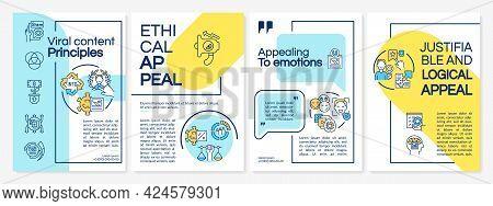 Viral Content Principles Brochure Template. Emotional Appeal. Flyer, Booklet, Leaflet Print, Cover D
