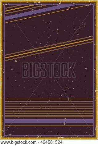Retro Abstract Template With Place For Text Stripes And Grungy Effects Vector Illustration