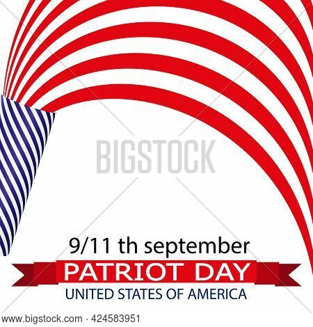 Patriot Day With America Flag Crackers, Vector Art Illustration.