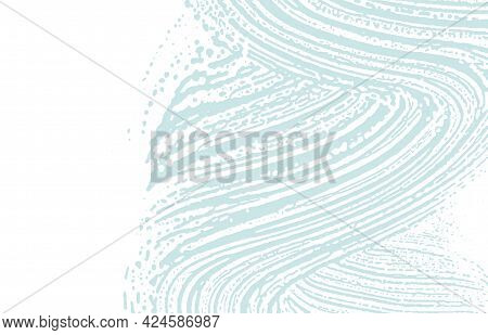 Grunge Texture. Distress Blue Rough Trace. Captivating Background. Noise Dirty Grunge Texture. Neat