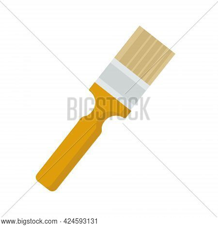 A Brush For Painting The Walls Of A House On A White Background Is Used For Web Design Or Clipart