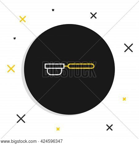 Line Coffee Filter Holder Icon Isolated On White Background. Colorful Outline Concept. Vector