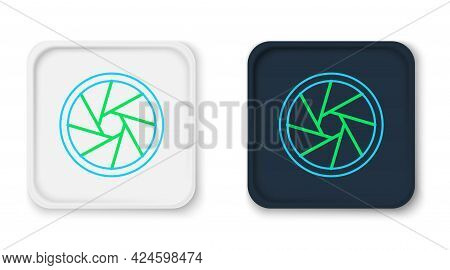 Line Camera Shutter Icon Isolated On White Background. Colorful Outline Concept. Vector
