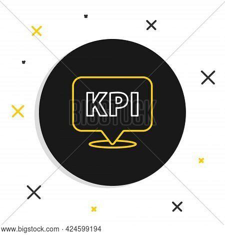 Line Kpi - Key Performance Indicator Icon Isolated On White Background. Colorful Outline Concept. Ve
