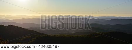 This Is Shortly After Dawn On The Blue Ridge Parkway Not Far From Newland, Nc.  You Can See Ridge Af