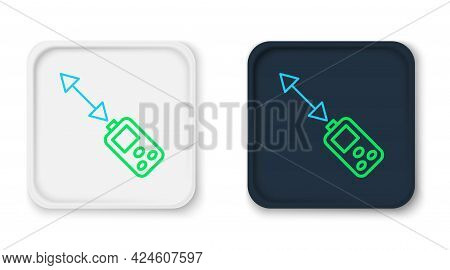 Line Laser Distance Measurer Icon Isolated On White Background. Laser Distance Meter Measurement Equ