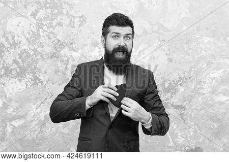 I Steal Hearts. Bearded Man Hide Heart In Pocket. Celebrating Valentines Day. Holiday Celebration. H