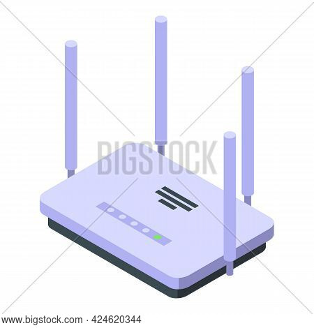 Wifi Router Icon Isometric Vector. Wifi Modem Broadband. Internet Network Router