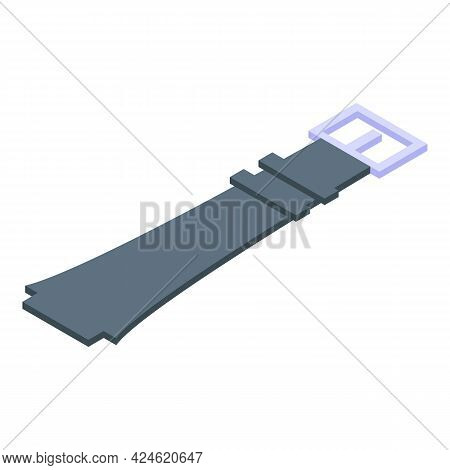 Watch Belt Icon Isometric Vector. Wrist Clock Band. Modern Smartwatch Belt