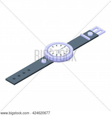 Wristwatch Icon Isometric Vector. Hand Watch. Fitness Wearable Wristwatch