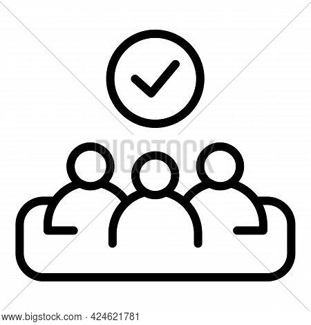 Narrow Market Workgroup Icon. Outline Narrow Market Workgroup Vector Icon For Web Design Isolated On