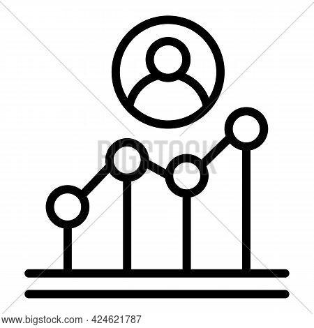 Narrow Market Graph Chart Icon. Outline Narrow Market Graph Chart Vector Icon For Web Design Isolate