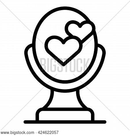 Narcissism Mirror Love Icon. Outline Narcissism Mirror Love Vector Icon For Web Design Isolated On W