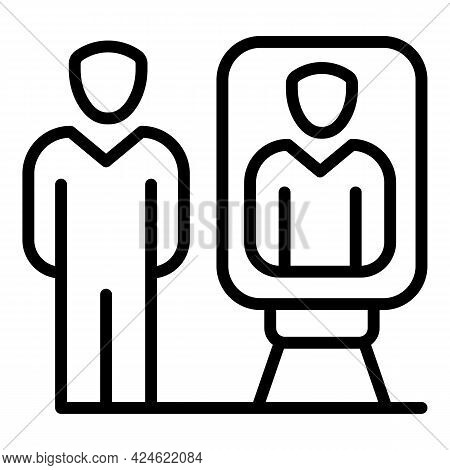 Narcissism Room Mirror Icon. Outline Narcissism Room Mirror Vector Icon For Web Design Isolated On W