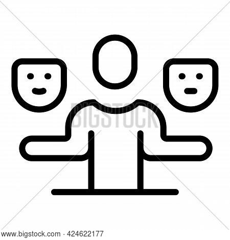 Narcissism Mask Choose Icon. Outline Narcissism Mask Choose Vector Icon For Web Design Isolated On W