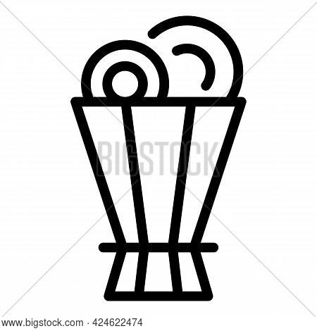 Company Flower Bouquet Icon. Outline Company Flower Bouquet Vector Icon For Web Design Isolated On W