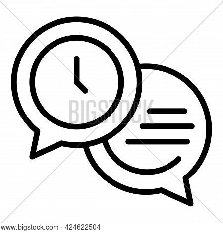 Late Work Chat Icon. Outline Late Work Chat Vector Icon For Web Design Isolated On White Background