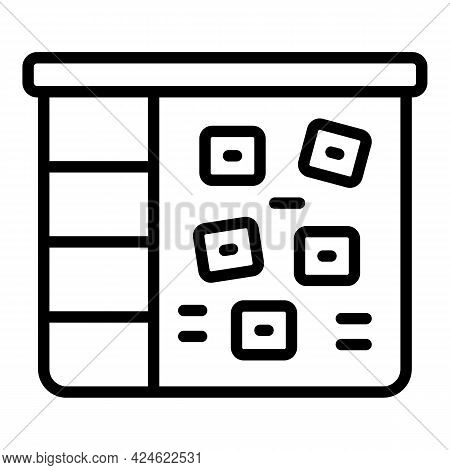 Late Work Board Icon. Outline Late Work Board Vector Icon For Web Design Isolated On White Backgroun