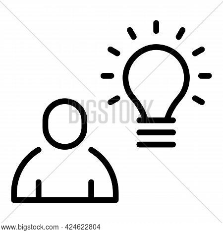 Late Work Idea Icon. Outline Late Work Idea Vector Icon For Web Design Isolated On White Background