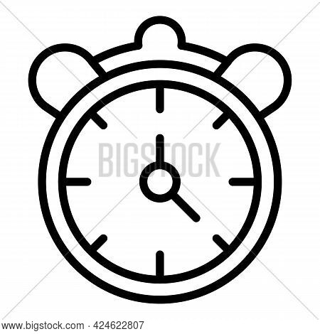 Late Work Alarm Clock Icon. Outline Late Work Alarm Clock Vector Icon For Web Design Isolated On Whi