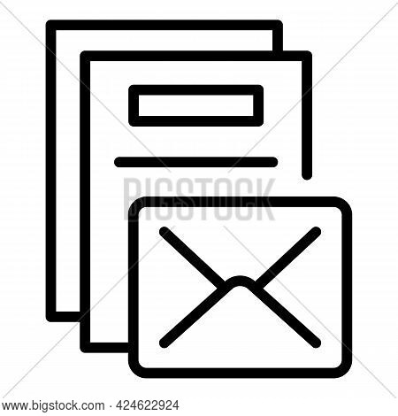 Regulated Products Mail Icon. Outline Regulated Products Mail Vector Icon For Web Design Isolated On